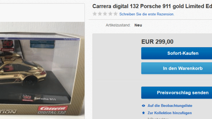 Carrera Digital 132 Porsche 911 in gold ebay preis