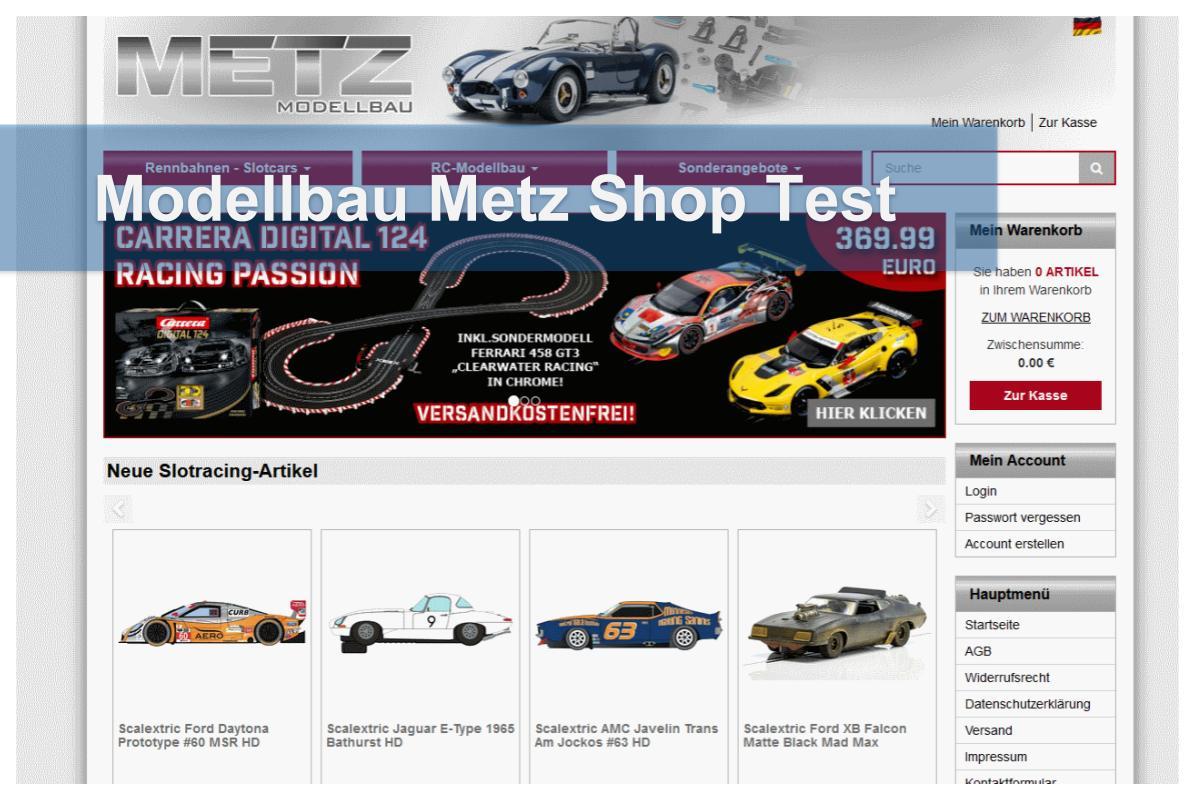 Modellbau Metz Shop Test