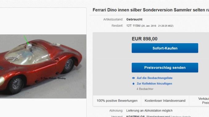carrera Ferrari Dino innen Silber